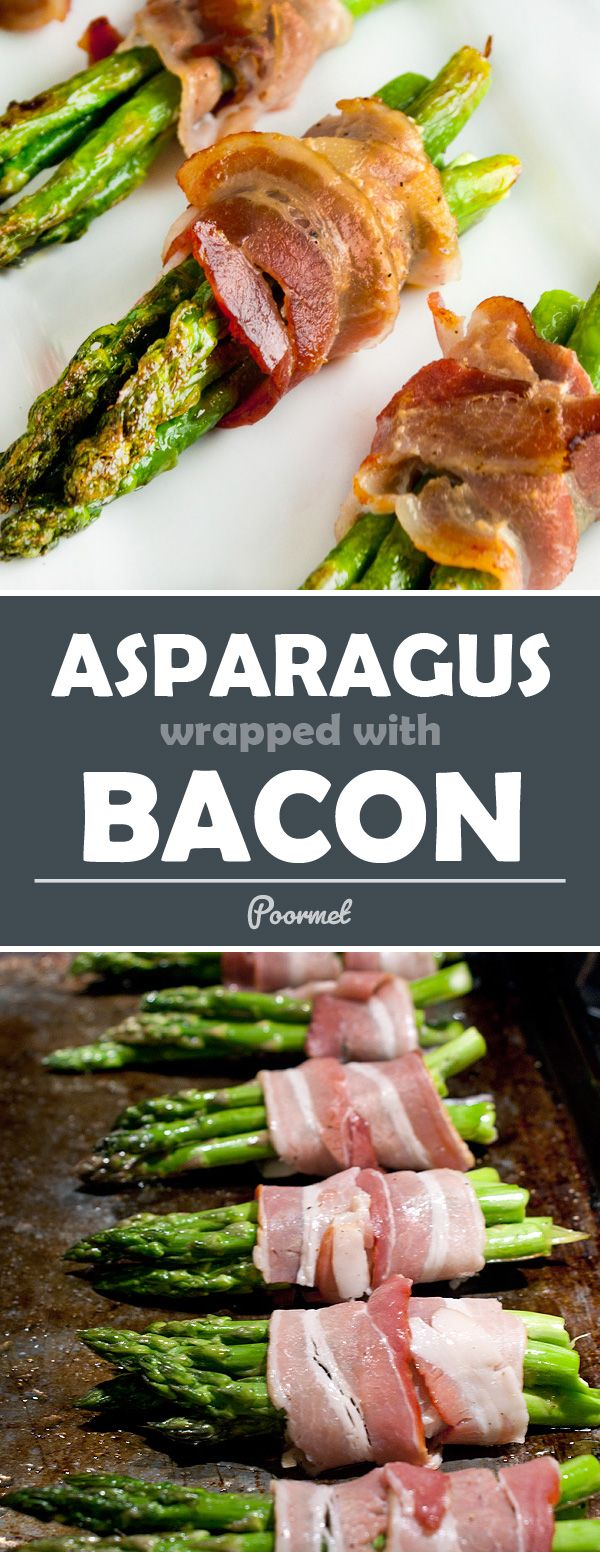Bacon wrapped asparagus... a quick way to make vegetables unhealthy (and delicious)