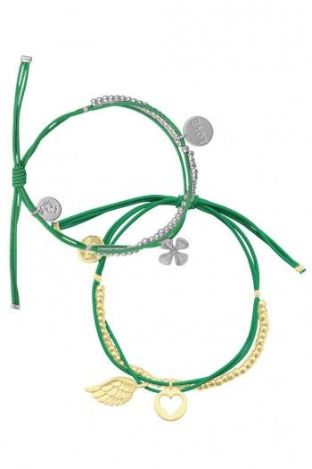 My Jewellery Les Cleias stretch armbanden set Green | JewelandWatch.com