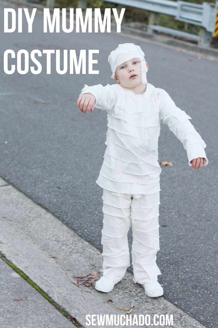 DIY Mummy Costume For Kids