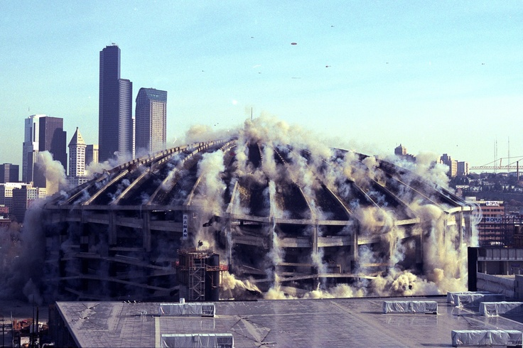 When the King Dome in Seattle was imploded.