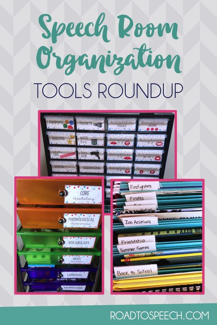 Looking for tools to organize your speech room? Look no further!