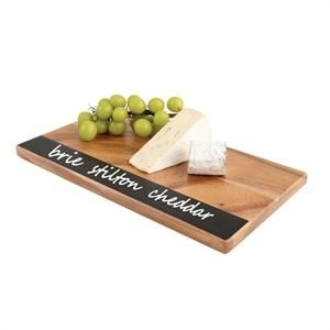 Tabla de madera de acacia con pizarra en lateral T&G Woodware