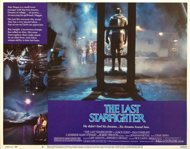 The Last Starfighter - Lobby card with Dan O'Herlihy