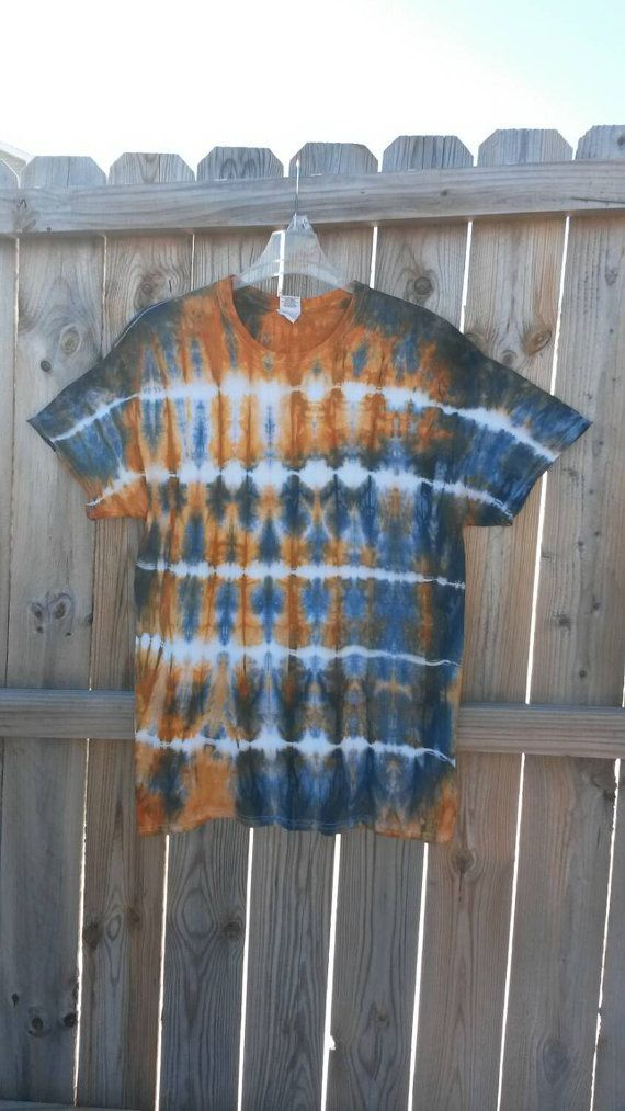 Tie Dye Shirt Blue and Orange Tie Dye Shirt by MessyMommasTieDyes