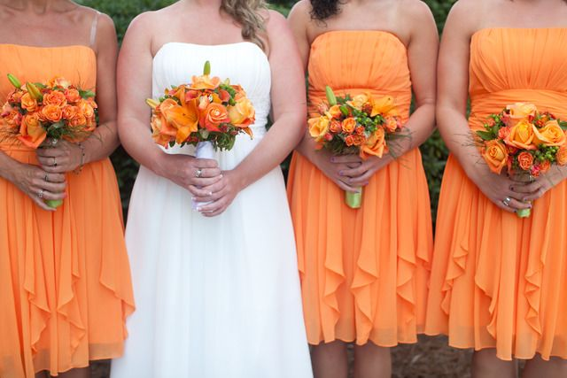 """Photo 1 of 17: Orange and Lime green / Wedding """"Destination Beach Ceremony""""   Catch My Party"""