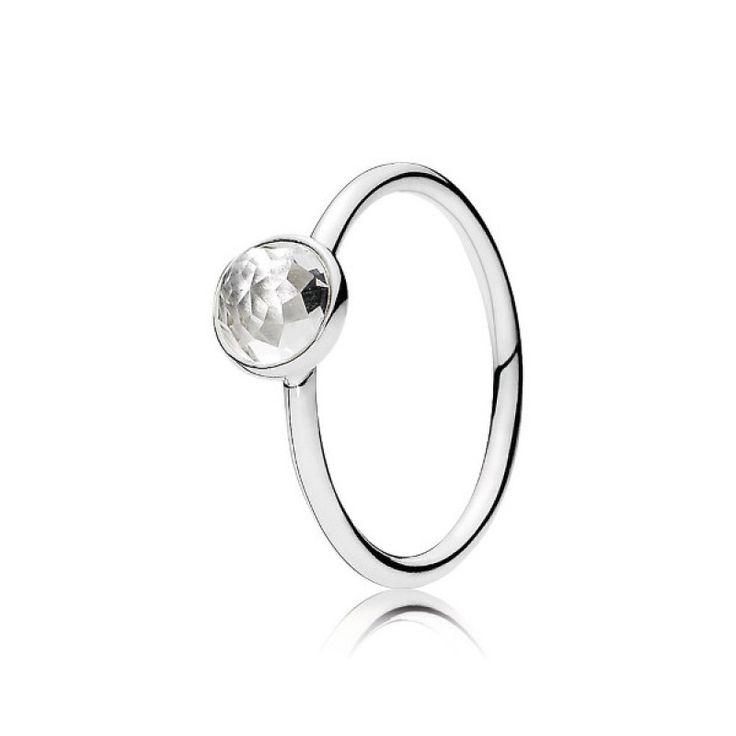 anillo gota de enero pandora