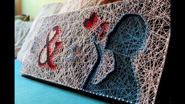 Стринг арт - искусство из гвоздей и ниток