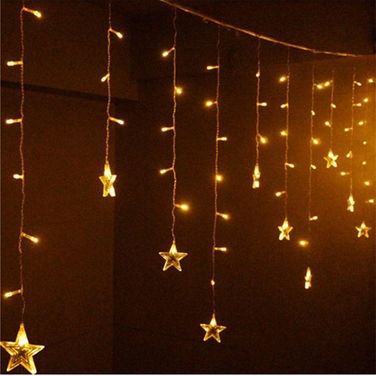 Star String Lights For Bedroom : 1000+ ideas about Icicle Lights Bedroom on Pinterest Christmas lights bedroom, White lights ...