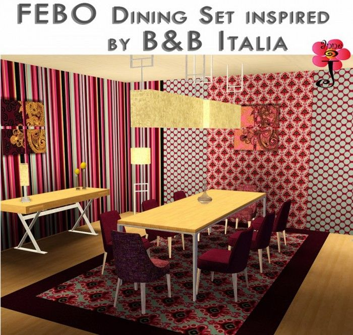 FEBO Dining Room Set Inspired By BB Italia Annejline