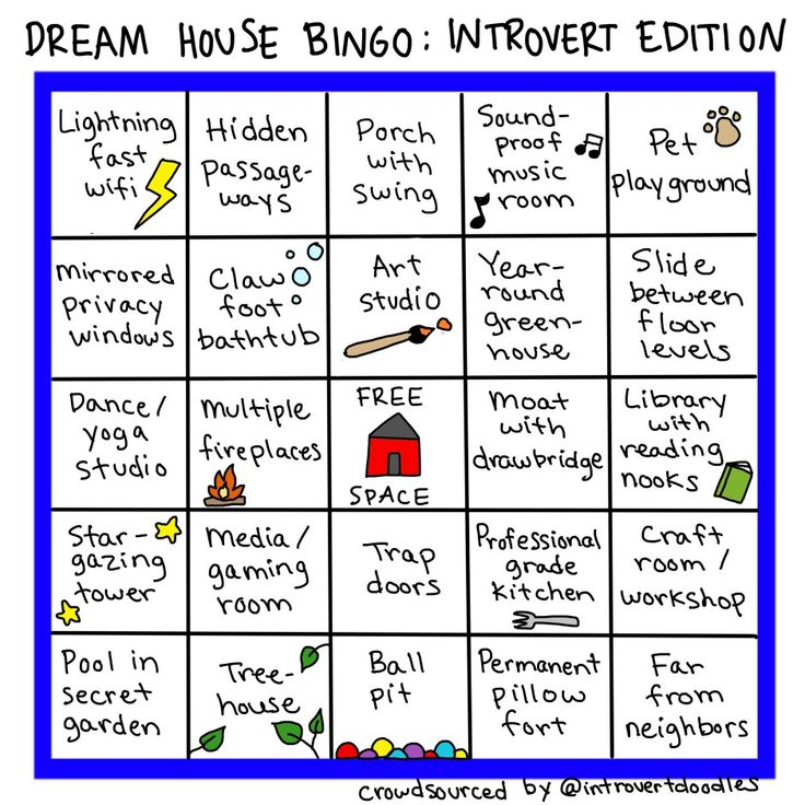 Thanks, Introvert Doodles, for nailing my dream house so perfectly!