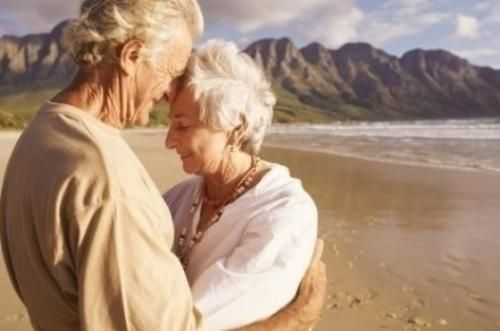 My husband doesn't care for the beach at all, yet he goes with me every summer for at least a week. This will be us in 20 years- Lord willing.