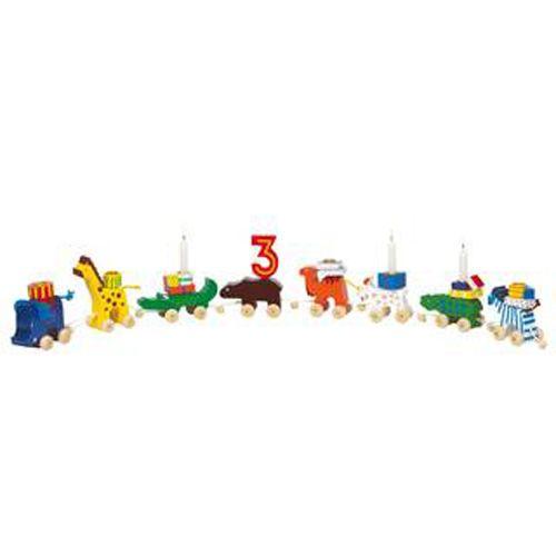 Geburtstagszug Tiere aus Holz Deko