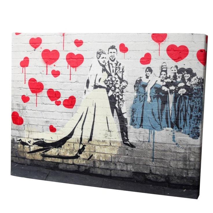 Pop Art Banksy...so wird aus dem Lieblingsfoto der Hochzeit eine ganz besondere Erinnerung