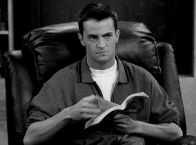 8 Reasons to See the Movie Before the Book_Chandler reading gif