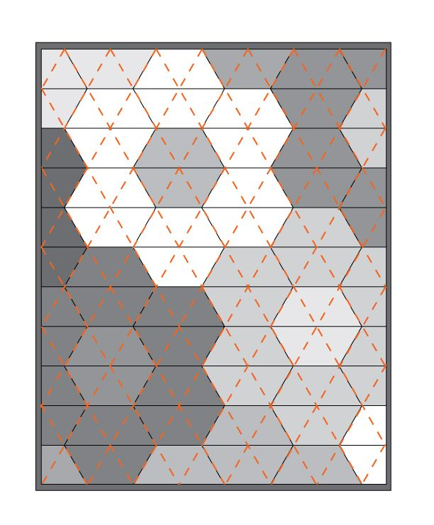 """hexagon strip quilt pattern 