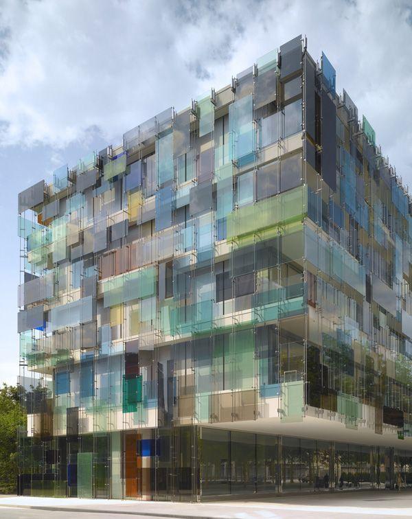 "n-architektur: ""Novartis Forum 3 in Basel, Diener & Diener facade design: Schott Glass and light within the façade: specialized glass systems """