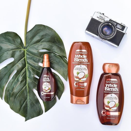 The Garnier Whole Blends incorporates yummy natural ingredients in its paraben-free formulas. | 28 Products That'll Make Dry Or Damaged Hair So Much Better