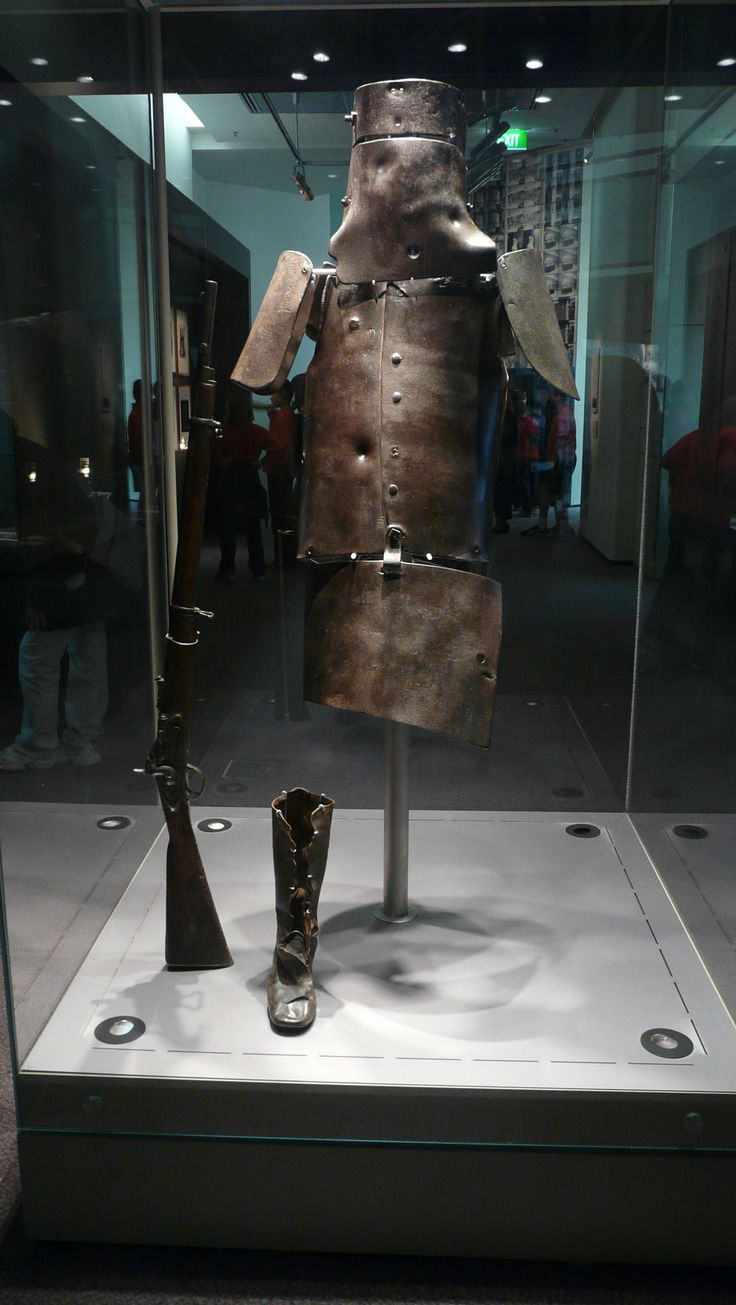 "Ned Kelly's Armour. Edward ""Ned"" Kelly (June 1854 or 1855 – 11 November 1880[1]) was an Irish Australian bushranger. He is considered by some to be merely a cold-blooded killer, while others consider him to be a folk hero and symbol of Irish Australian resistance against the ruling class. A violent confrontation with police took place at Glenrowan on 28 June 1880. Kelly, dressed in home-made plate metal armour and a helmet, was captured and sent to jail and later hanged."