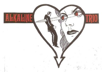 Design for Alkaline Trio by Heather Gabel: Blood Is The New Black Featured Artist, July 2013