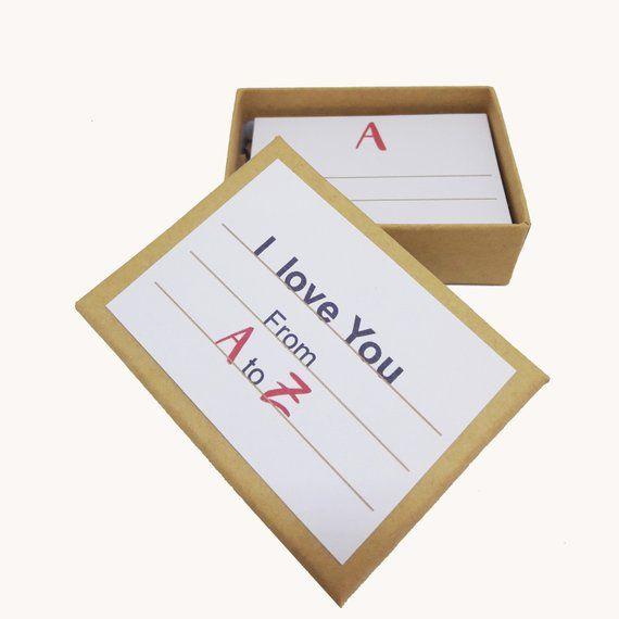 Valentine S Gift Paper Anniversary I Love You A To Z Love Cards Valentine S Love Valentine S Day Gift For Him Valentine S Card Love Paper Anniversary Paper Gifts Anniversary Paper Gifts