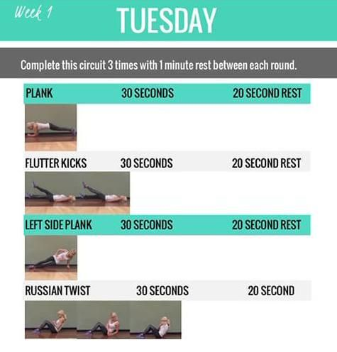 alexa jean sore to the core week 1 - Google Search | workout & Beauty |  Pinterest | Kayla itsines workout, Fitness and Workout