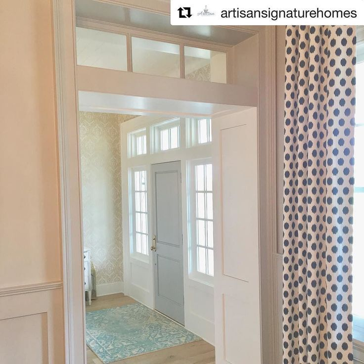 Hall way ideas #inspire #Repost @artisansignaturehomes (@get_repost)  Transoms sidelights trim work? How do you like to surround your front door?