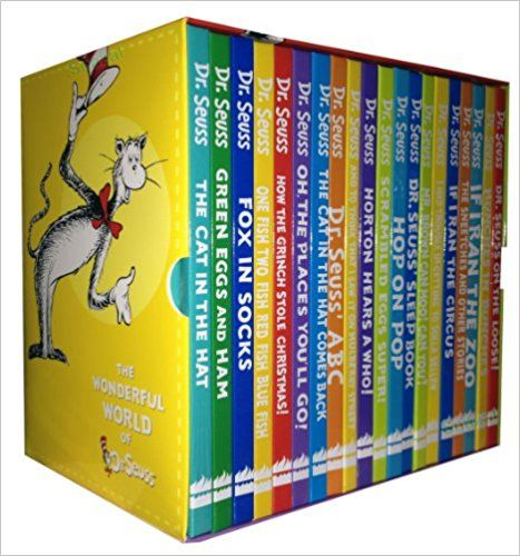 Dr Seuss Collection 20 Books Set Pack (The Cat in the Hat, Green Eggs and Ham, Fox in Socks, One Fish Two Fish Red Fish Blue Fish, How the Grinch Stole Christmas!, Oh the Places You'll Go!, the Cat in the Hat Comes Back, Dr. Seuss' Abc, Dr. Seuss ..): Dr. Seuss: 6397679251500: Amazon.com: Books