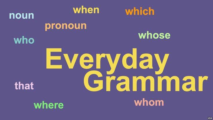 Podcast: Everyday Grammar - Relative Pronouns