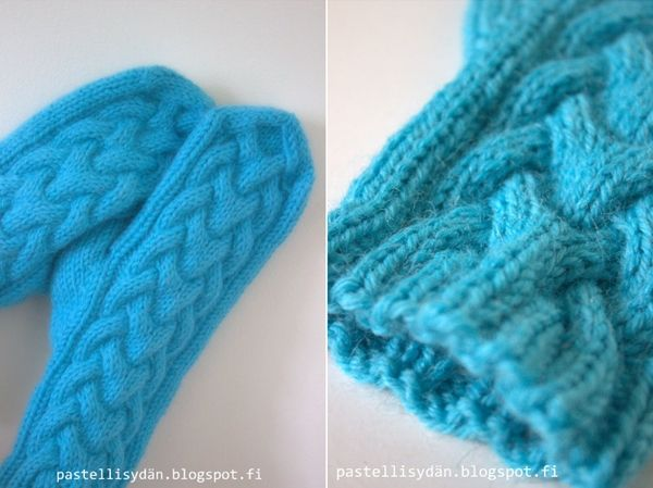 IINU: braid mittens (instructions in Finnish) - these are so beautiful, have to make them one day :)