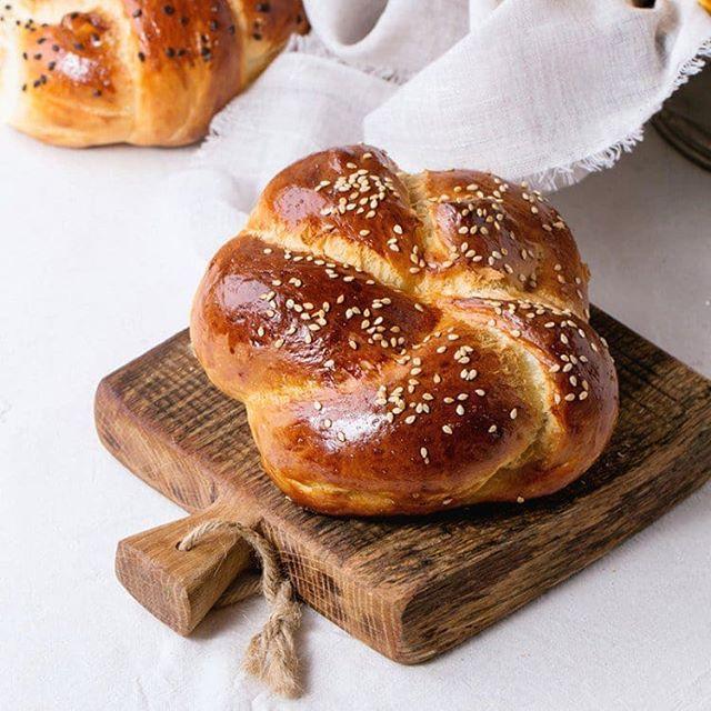 خبز السمسم الهش Sesame Bread Food Delicious Challah