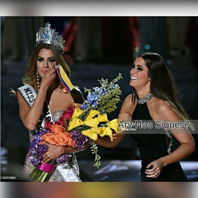 Dos de nuestras Tres Reinas Miss Universo Colombianas @paulinavegadiep (Miss Universo 2014-2015) y @gutierrezary (Miss Universo 2015-2016) #follow #followforfollow #follow4follow #ariadnagutierrez #MissUniverso