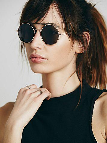 Free People Womens Wrapped Rounders Sunglass