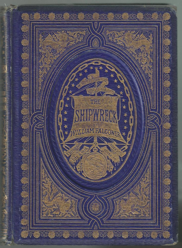 Cover design by John Leighton for William Falconer's The Shipwreck (1858)