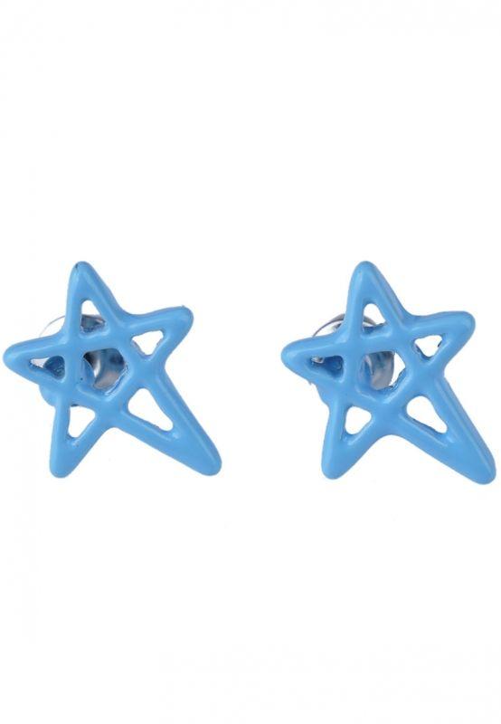 Pentagram/Ster Licht Blauwe Oorbellen bij Trendy Goodies - € 2,50