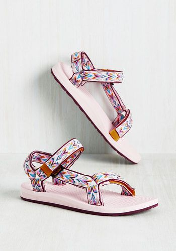 My Stride of the Story Sandal in Pink by Teva - Pink, Multi, Print, Other Print, Casual, Beach/Resort, Boho, Festival, Better, Variation, Flat