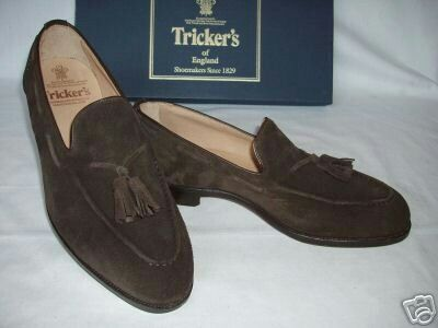 Trickers Tassel Loafer in Tobacco