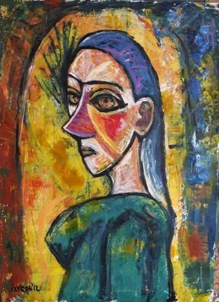 Woman (after Picasso) - Картина,  59x42 cm ©2012 - Ixygon -                          Абстрактный экспрессионизм