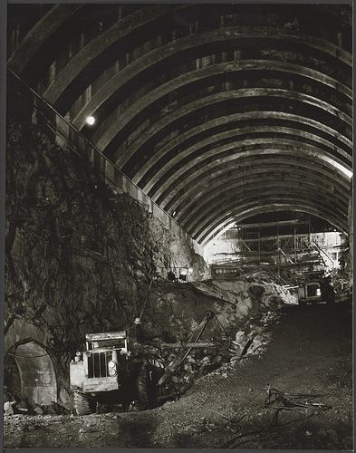 Snowy Mountains Scheme T-2 tunnel work, 1957, Dept. of Overseas Trade, Melbourne / Wolfgang Sievers | Flickr - Photo Sharing!