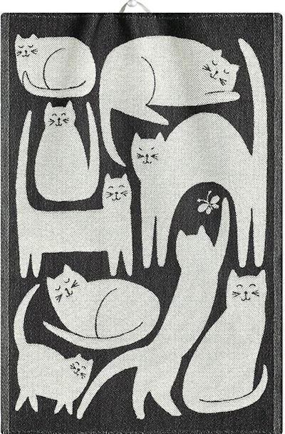 Cats Nine Lives Ekelund Jacquard Tea Towel