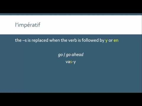 The Imperative Mood in French | l'impératif - YouTube