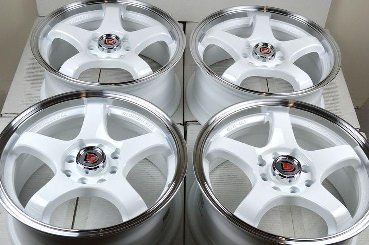 17 White Wheels Rims Civic Accord CL Miata Tiburon Mini Cooper ion 4x100 4x114 3 | eBay