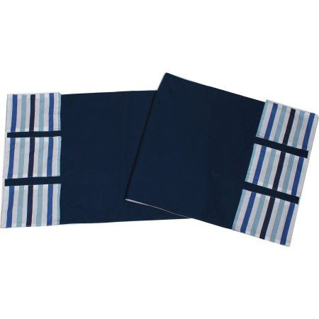 cool Bacati - Little Sailor Blue Stripes, Changing Table Storage Runner
