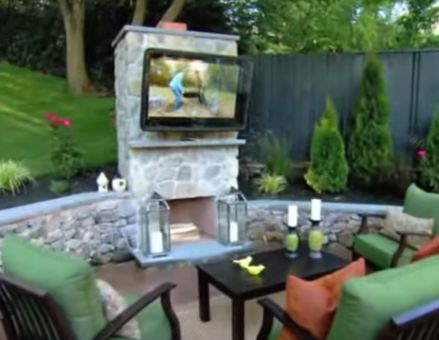 Outdoor TV Enclosure, Cabinet, Weatherproof TV, Patio