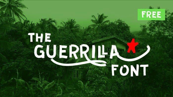 Бесплатный шрифт Guerrilla