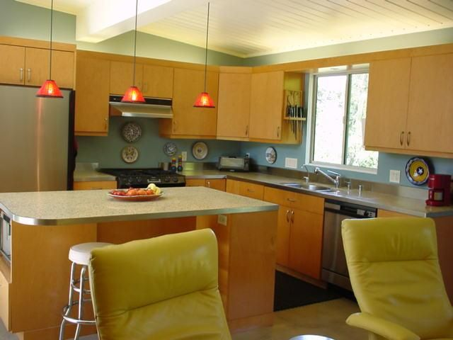 Kitchen Iisland With Updated Cabinets U0026 Countertop   Kitchen Design    Pinterest   Mid Century, Kitchens And Countertop