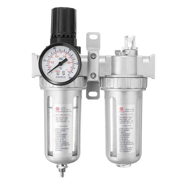 3/8InchCompresordeaireOil Lubricador Filtro de agua Regulador Medidor