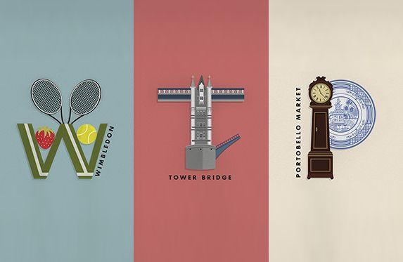 Южноафриканская Fanakalo собрала шрифтовой плакат для британского сообщества романтиков-урбанистов. Каждая буква — самостоятельный логотип любимого лондонского уголка.
