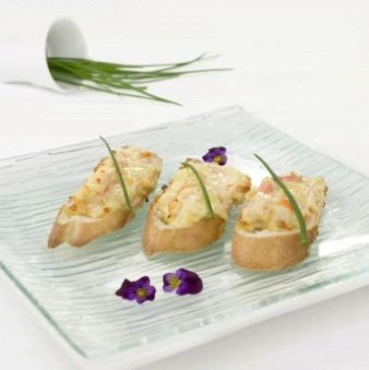 Bouchees-crabe et cheddar d'ici - Fromagerie des Basques