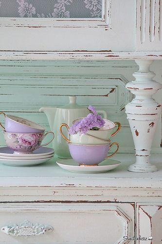Mint, lila, TeaTime, #Minty http://www.suendenherz.de/ #mint