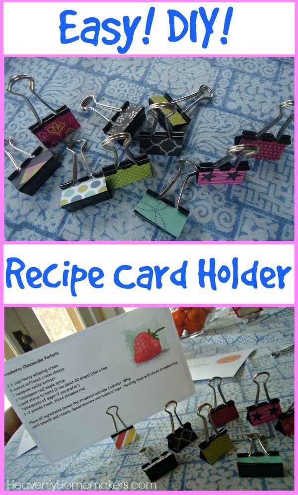 Easy DIY Recipe Card Holder